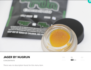 Jager Concentrates - NugRUN - 21+ Medical