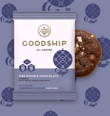 Goodship CBD Double Chocolate Cookie - Washington Cannabis Cookie