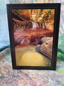 Autumn Whirlpool Zion Greeting Card