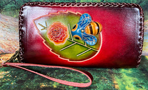 Bee X-Large Leather Wallet