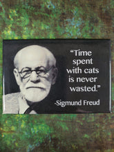 Time With Cats is Never Wasted - Magnet
