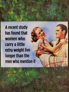 Women Who Carry a Little Extra Weight - Magnet