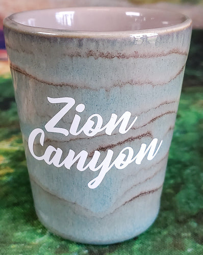 Zion Ceramic Stained Shot Glass