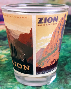 Zion Scenes Shot Glass