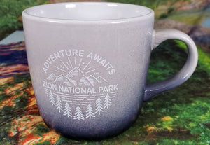 Adventure Awaits Zion Ombre Mug