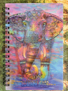 Bohemian Elephant 3D Notebook