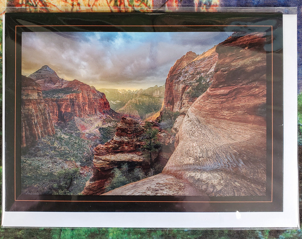 Canyon Light Zion Greeting Card