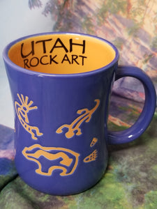 Etched Utah Rock Art Mug