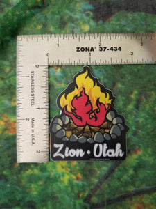 Camp Fire Mini Sticker