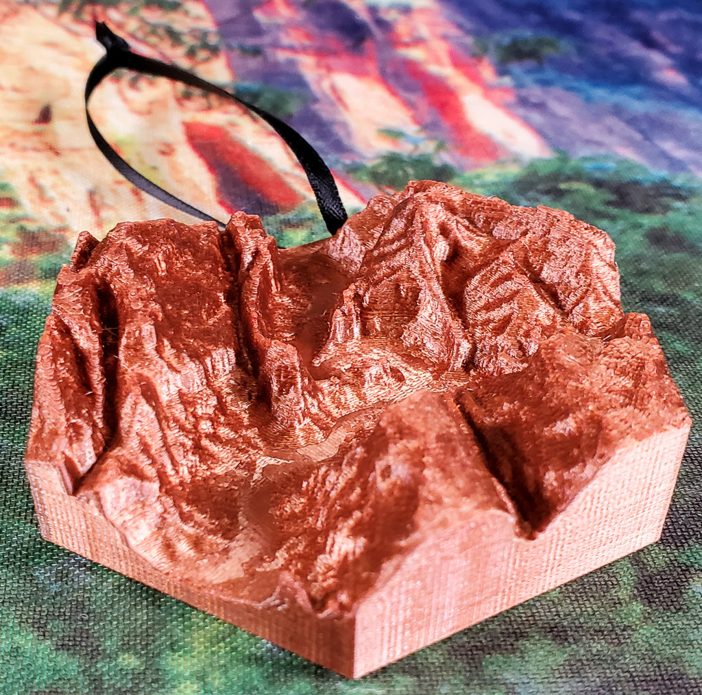 Angels Landing Topographical Ornament