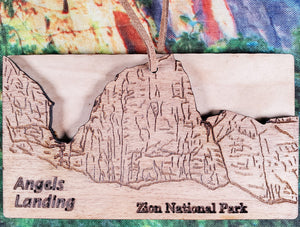 Angels Landing Wood Layer Ornament
