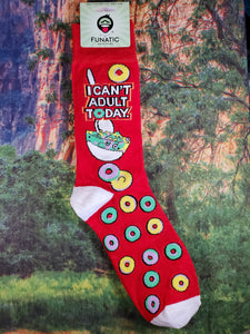 I Can't Adult Today - Crew Socks