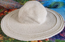 Cotton Crochet Hat Large Brim