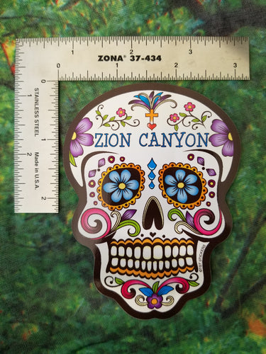 Sugar Skull Flower Sticker