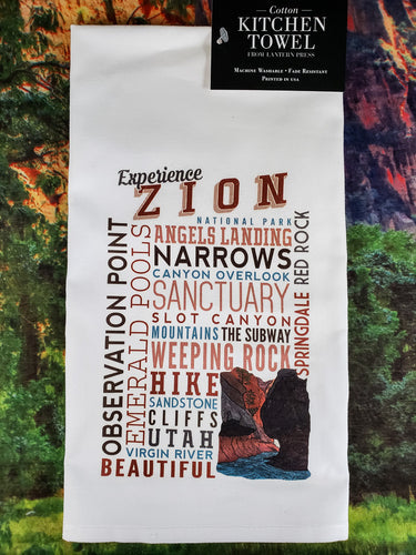 Experience Zion Kitchen Towel