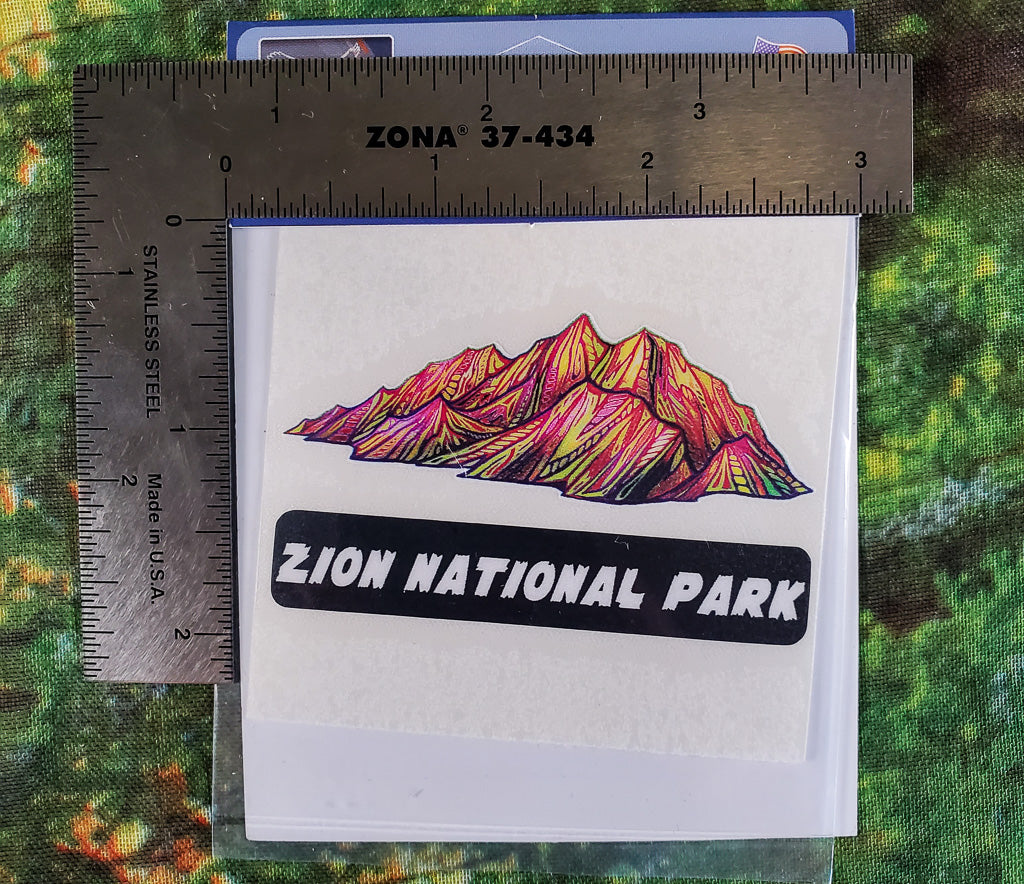 Red Mountains Mini Sticker