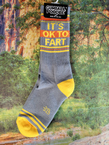 It's Ok To Fart - Gym Socks