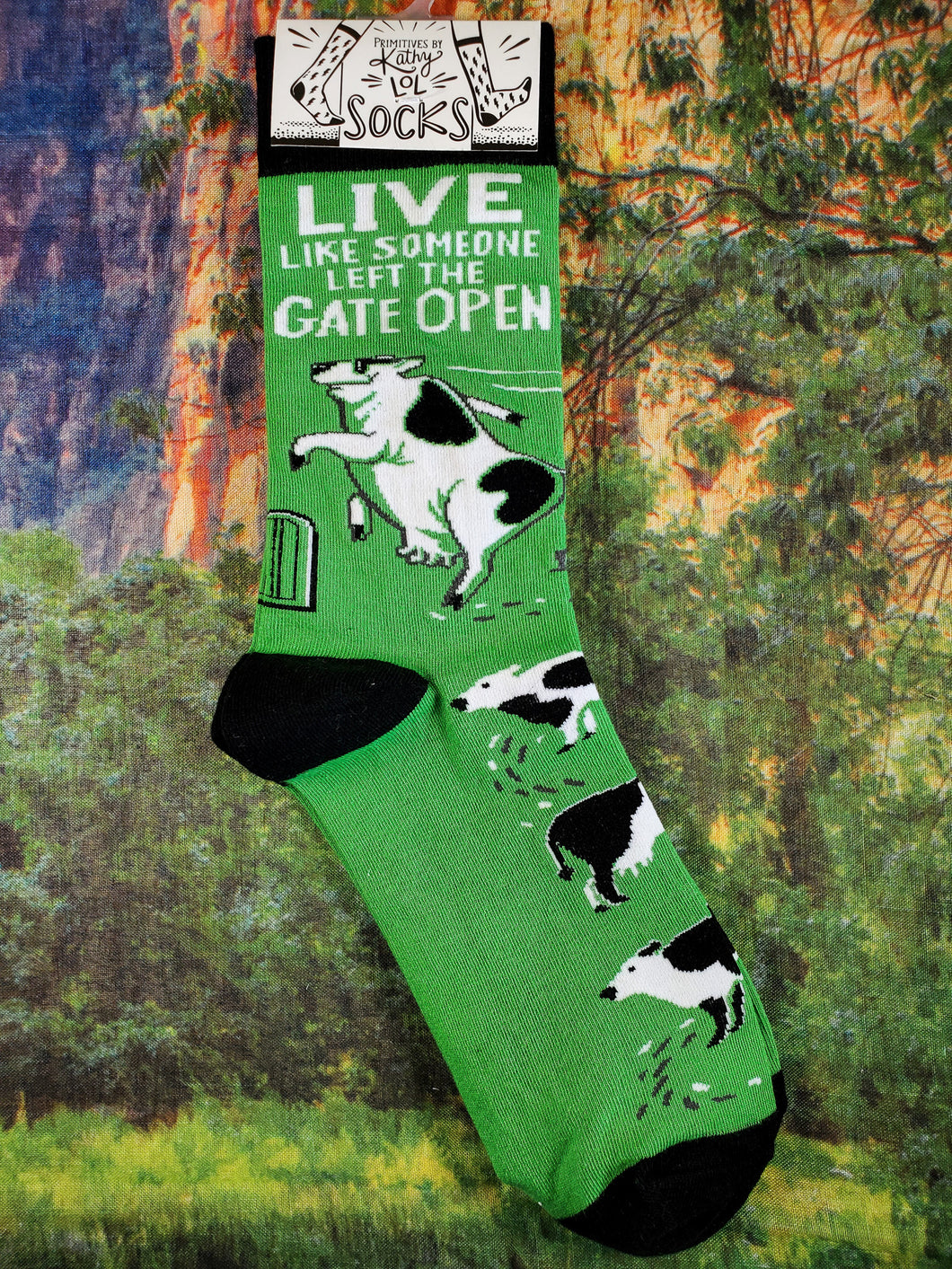 Live Like Someone Left The Gate Open - Crew Socks