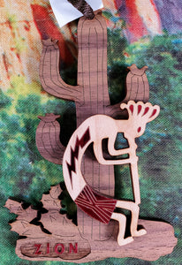 Kokopelli And Cactus Ornament