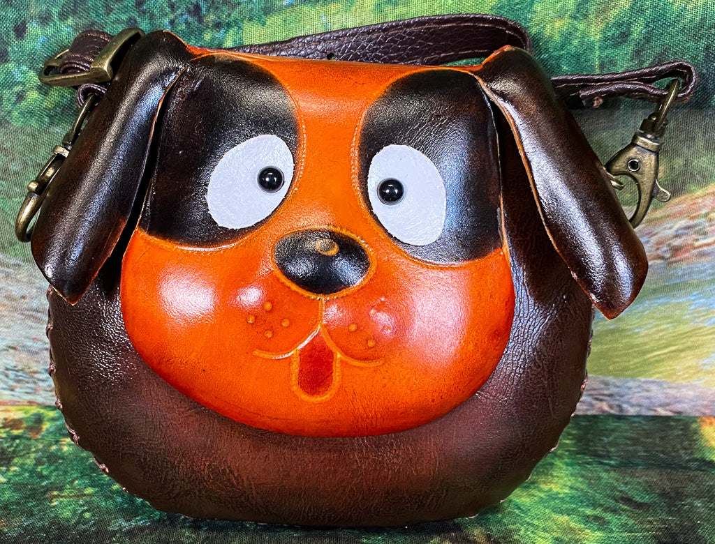 Dog Small Leather Purse