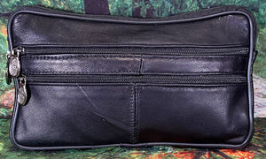 Leather Wristlett - Black