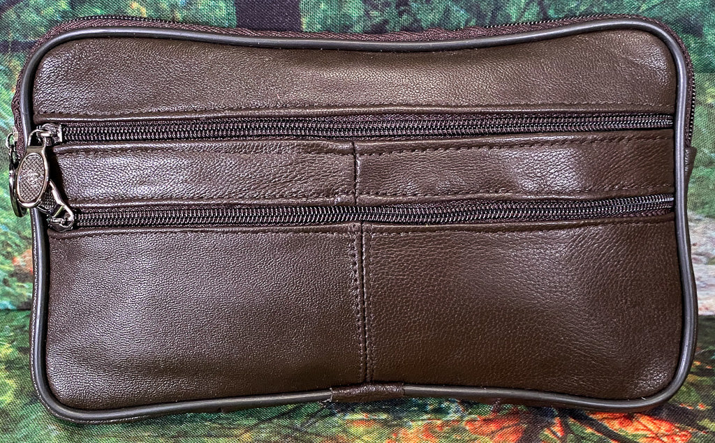 Leather Wristlett - Cocoa
