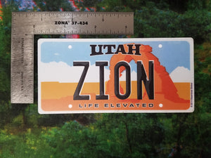 Utah License Plate - Sticker