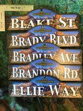 "Wooden Personalized Zion Street Sign ""A"" to ""B"" and Generic"