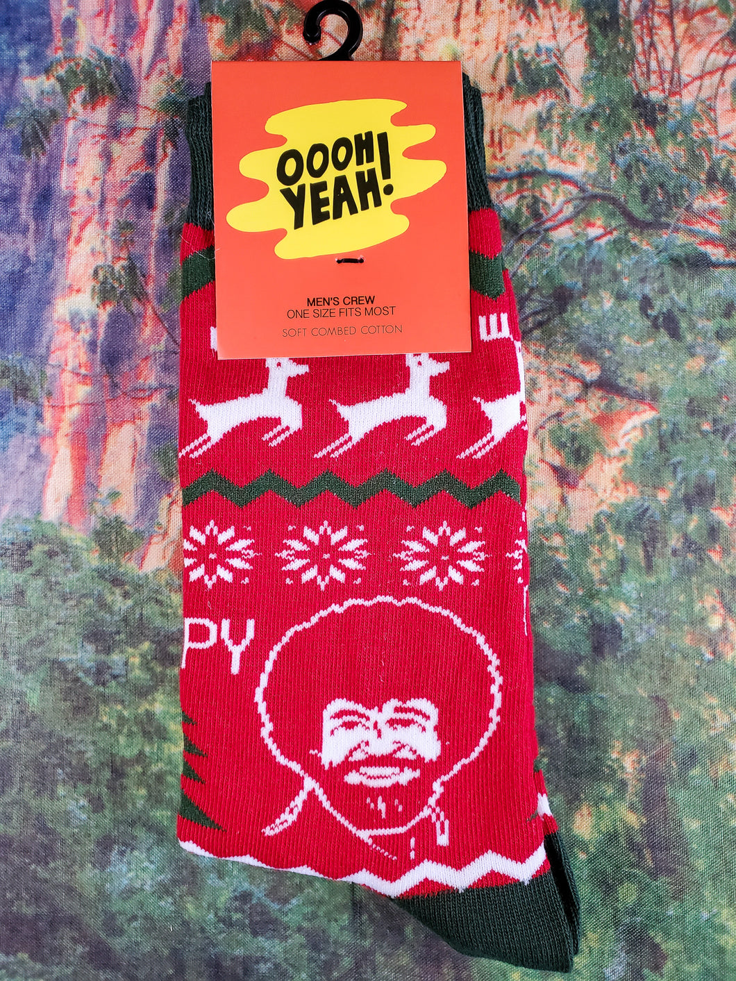 Merry Bob Ross - Men's Crew Socks