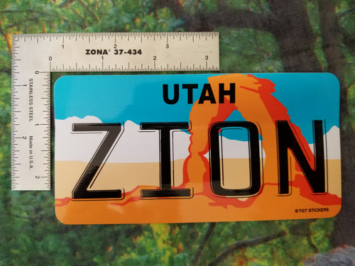 License Plate Sticker