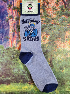 Not Today Satan - Crew Socks