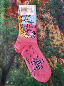 I Heard You and I Don't Care - Women's Crew Socks