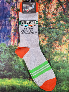 Ringmaster Of The Sh*t Show - Men's Crew Socks