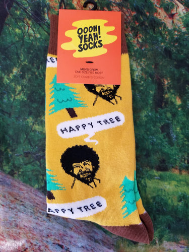 Bob Ross Happy Tree - Men's Crew Socks