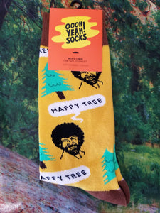 Bob Ross Happy Tree - Men's Crew Sock