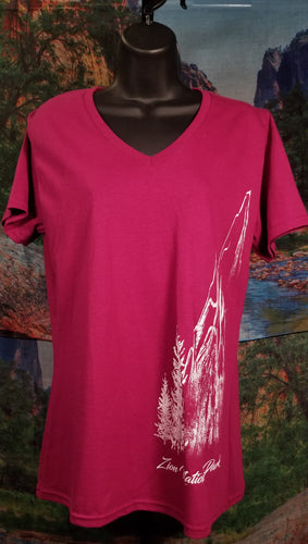 Zion Sketchy Mountain Women's T-Shirt