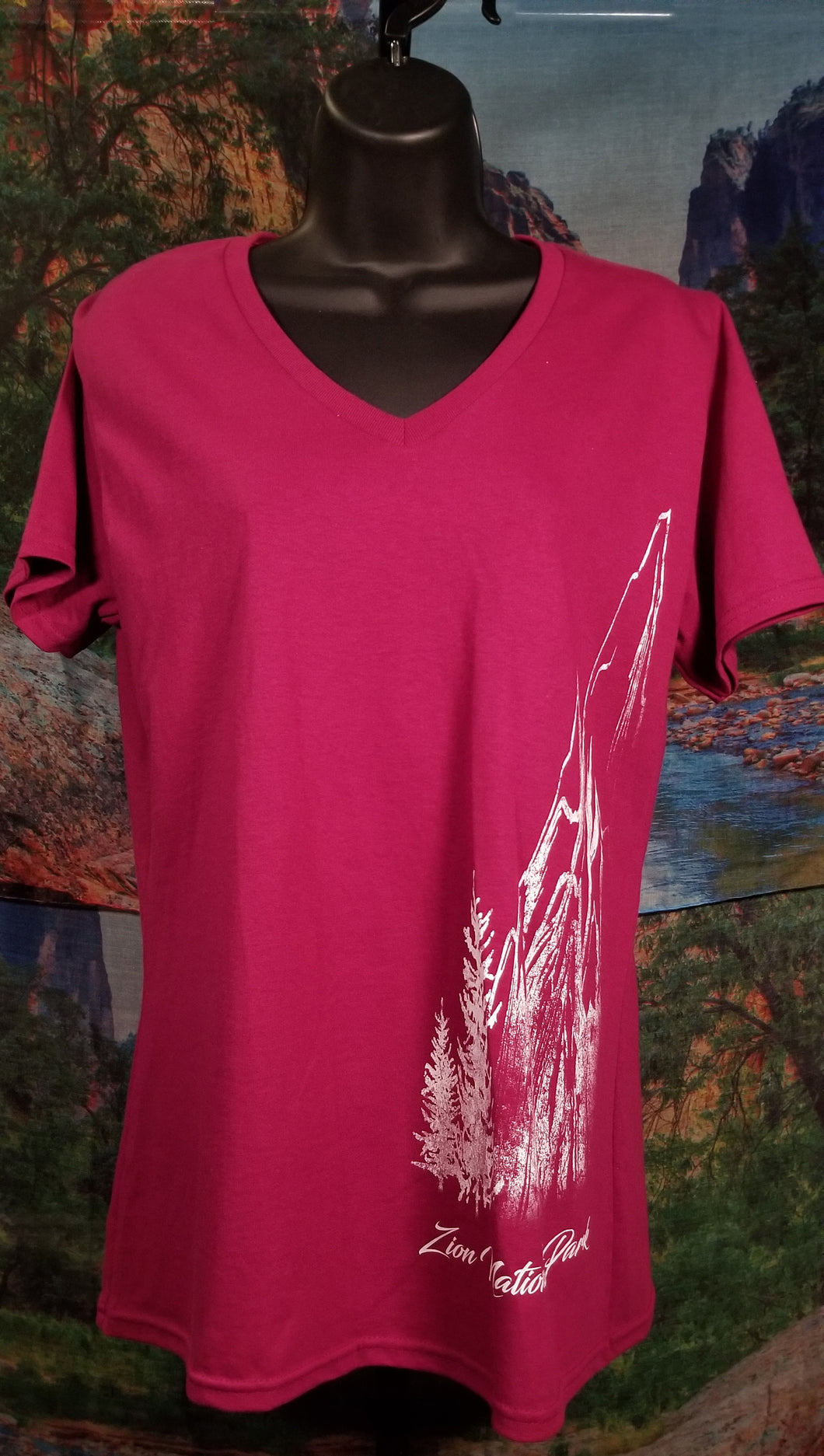 Zion National Park Sketchy Mountain Women's T-Shirt