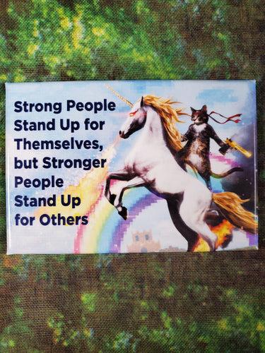 Strong People Stand Up - Magnet