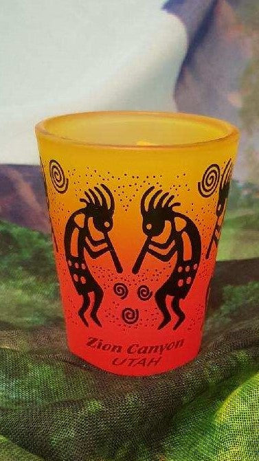 Kokopelli Rainbow Shot Glass