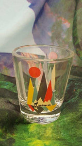 Five Peaks Mountain Shot Glass