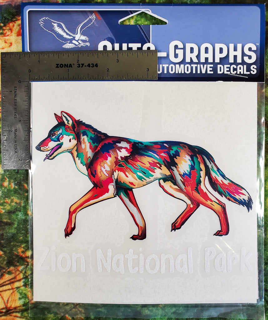 Colorful Wolf Sticker