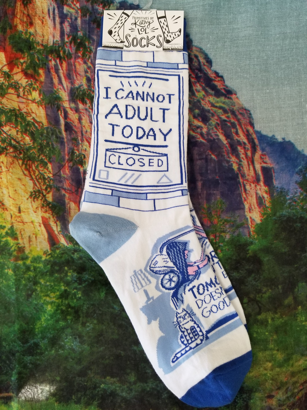 I Cannot Adult Today - Crew Socks