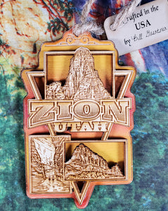 Zion Bi-Level Wood Ornament