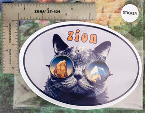 Zion Cat Euro Sticker