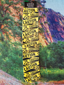 Caution Tape - Knee High Sock