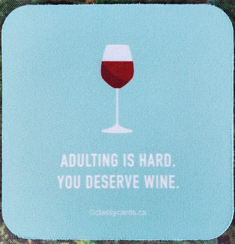 Adulting Is Hard Sassy Drink Coaster