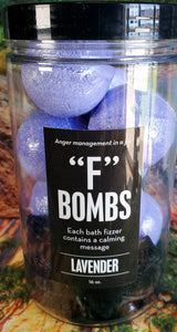 """F"" Bombs - Bath Bomb Jar"