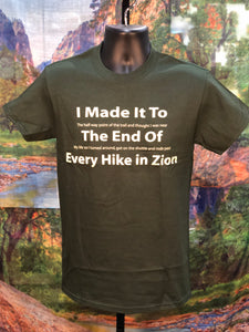 Every Hike in Zion T-Shirt