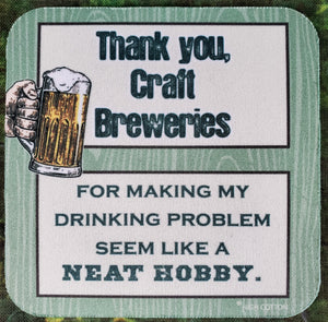 Craft Brewer Sassy Drink Coaster