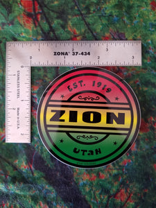 Rasta Circle Sticker